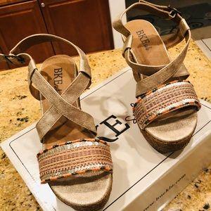 Brand new gold sandals